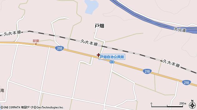 大分県玖珠郡玖珠町戸畑1223周辺の地図
