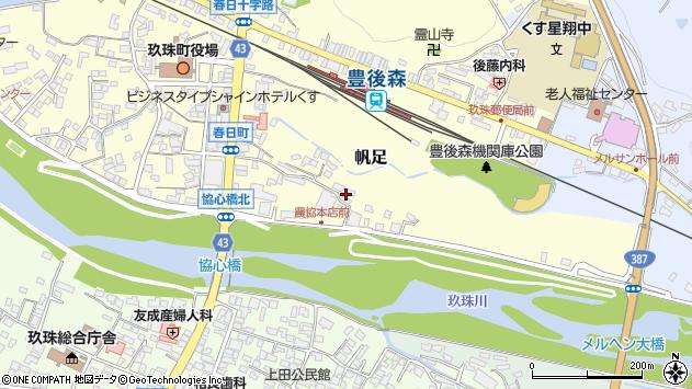 大分県玖珠郡玖珠町帆足400周辺の地図
