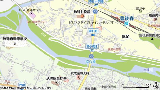 大分県玖珠郡玖珠町帆足329周辺の地図