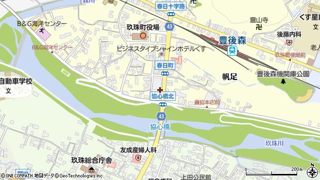 大分県玖珠郡玖珠町帆足363周辺の地図