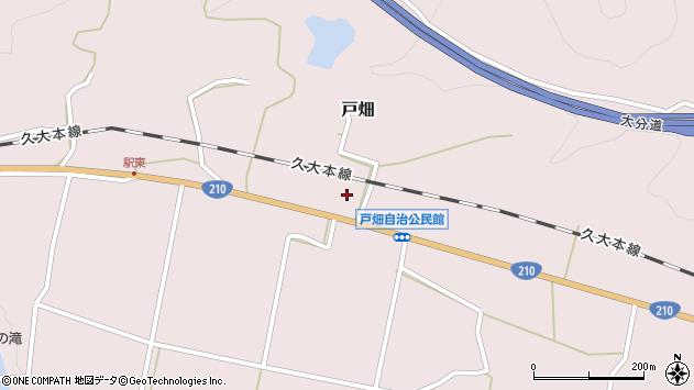 大分県玖珠郡玖珠町戸畑1216周辺の地図