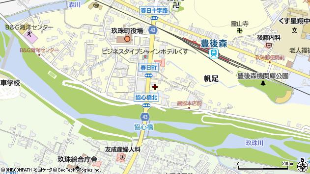 大分県玖珠郡玖珠町帆足382周辺の地図