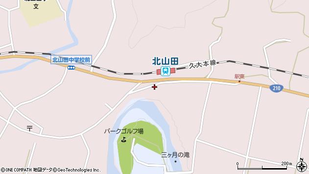 大分県玖珠郡玖珠町戸畑1650周辺の地図