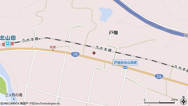 大分県玖珠郡玖珠町戸畑1205周辺の地図