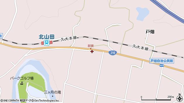 大分県玖珠郡玖珠町戸畑1557周辺の地図