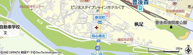 大分県玖珠郡玖珠町帆足周辺の地図
