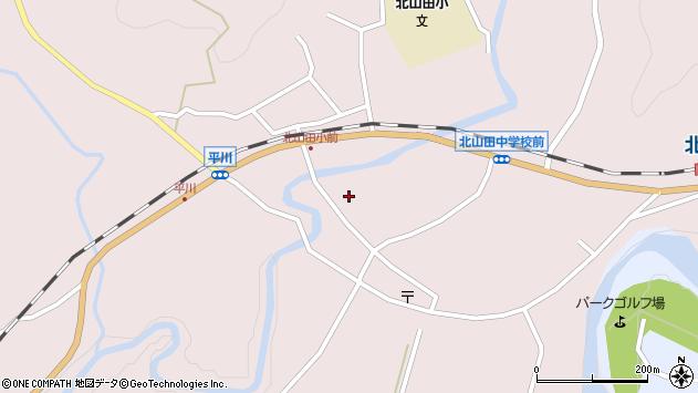 大分県玖珠郡玖珠町戸畑平川周辺の地図