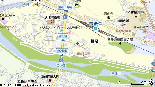 大分県玖珠郡玖珠町帆足372周辺の地図