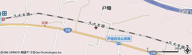 大分県玖珠郡玖珠町戸畑1208周辺の地図