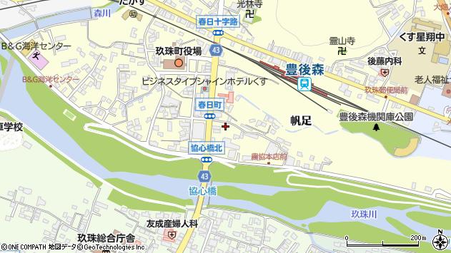 大分県玖珠郡玖珠町帆足381周辺の地図