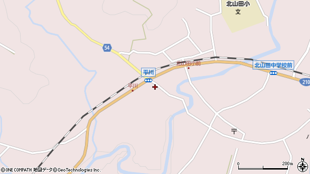 大分県玖珠郡玖珠町戸畑6356周辺の地図