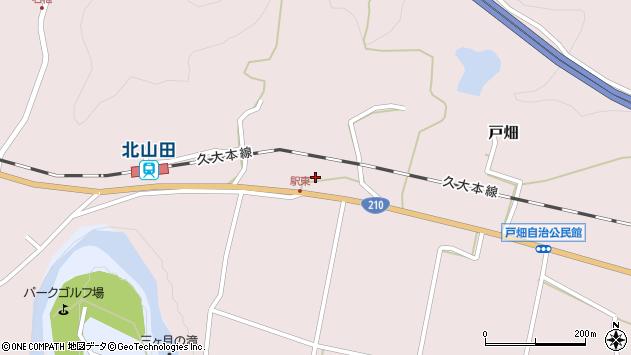 大分県玖珠郡玖珠町戸畑1555周辺の地図