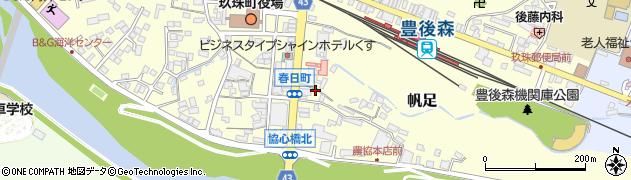 大分県玖珠郡玖珠町帆足371周辺の地図