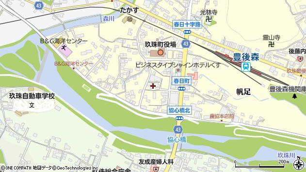 大分県玖珠郡玖珠町帆足328周辺の地図