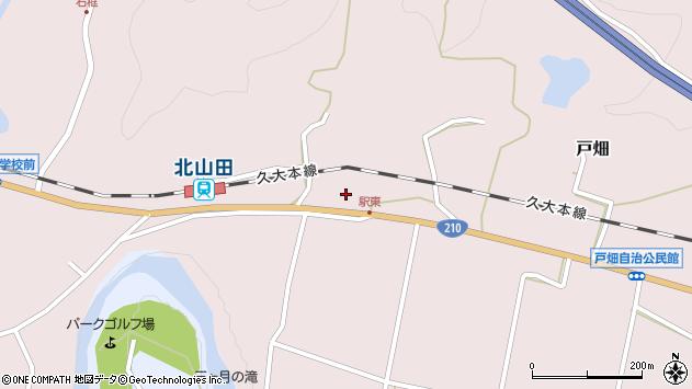 大分県玖珠郡玖珠町戸畑1519周辺の地図