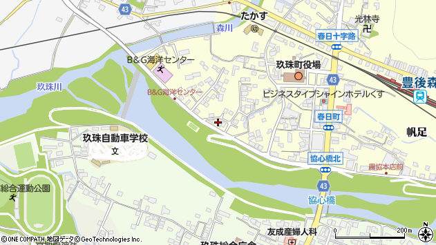 大分県玖珠郡玖珠町帆足299周辺の地図