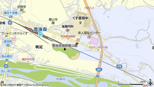大分県玖珠郡玖珠町帆足450周辺の地図