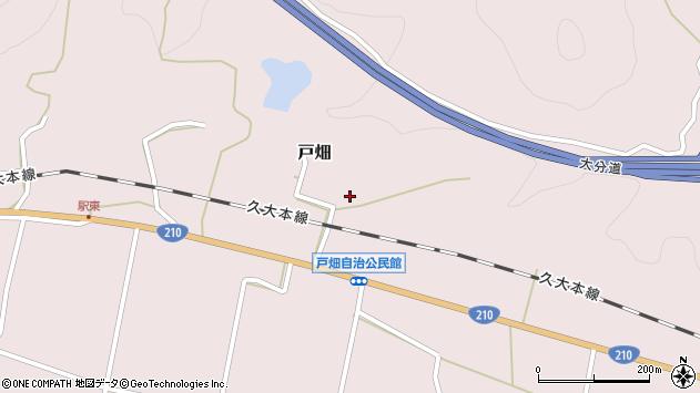大分県玖珠郡玖珠町戸畑1314周辺の地図