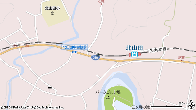 大分県玖珠郡玖珠町戸畑1740周辺の地図