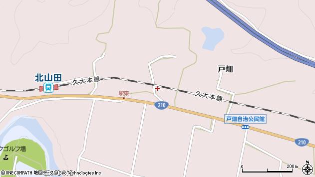 大分県玖珠郡玖珠町戸畑1545周辺の地図