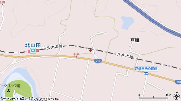 大分県玖珠郡玖珠町戸畑1543周辺の地図