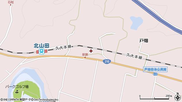 大分県玖珠郡玖珠町戸畑1538周辺の地図