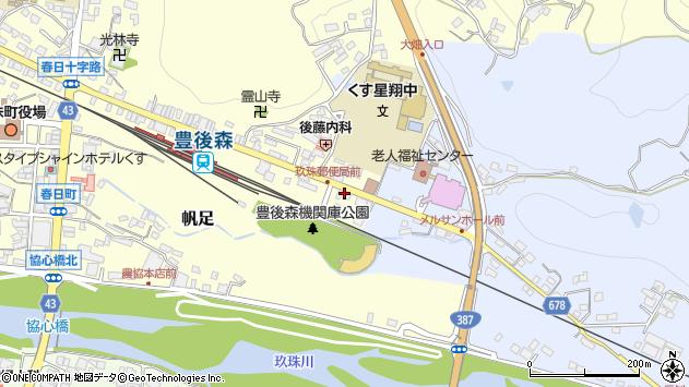 大分県玖珠郡玖珠町帆足449周辺の地図
