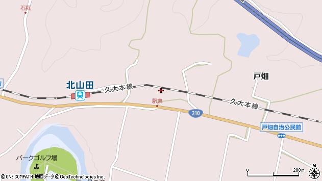 大分県玖珠郡玖珠町戸畑1523周辺の地図