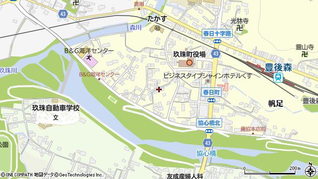 大分県玖珠郡玖珠町帆足314周辺の地図