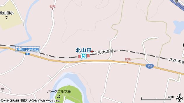 大分県玖珠郡玖珠町戸畑1691周辺の地図