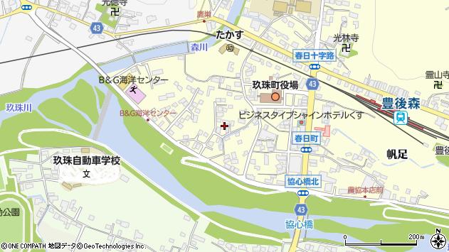 大分県玖珠郡玖珠町帆足302周辺の地図