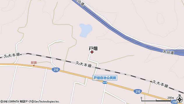大分県玖珠郡玖珠町戸畑1295周辺の地図