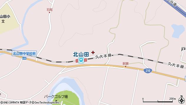 大分県玖珠郡玖珠町戸畑1684周辺の地図
