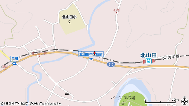 大分県玖珠郡玖珠町戸畑1819周辺の地図
