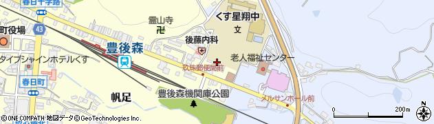 大分県玖珠郡玖珠町帆足453周辺の地図