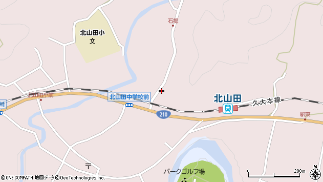 大分県玖珠郡玖珠町戸畑1810周辺の地図