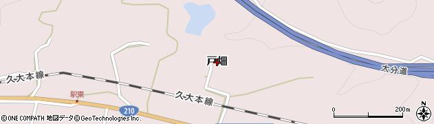 大分県玖珠郡玖珠町戸畑1294周辺の地図