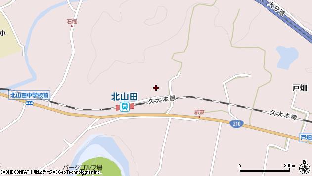 大分県玖珠郡玖珠町戸畑1679周辺の地図