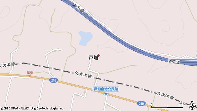 大分県玖珠郡玖珠町戸畑1291周辺の地図