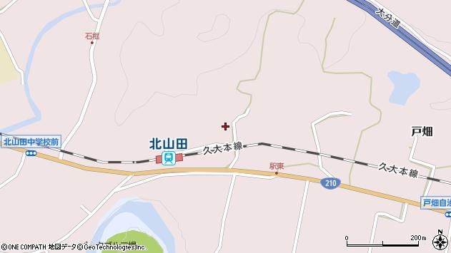 大分県玖珠郡玖珠町戸畑1678周辺の地図