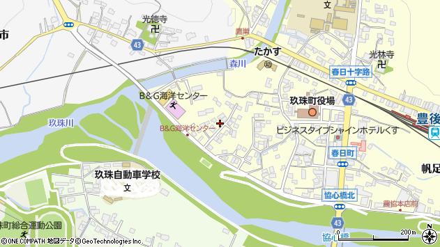 大分県玖珠郡玖珠町帆足287周辺の地図