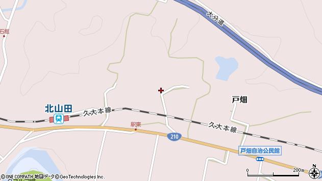 大分県玖珠郡玖珠町戸畑1503周辺の地図