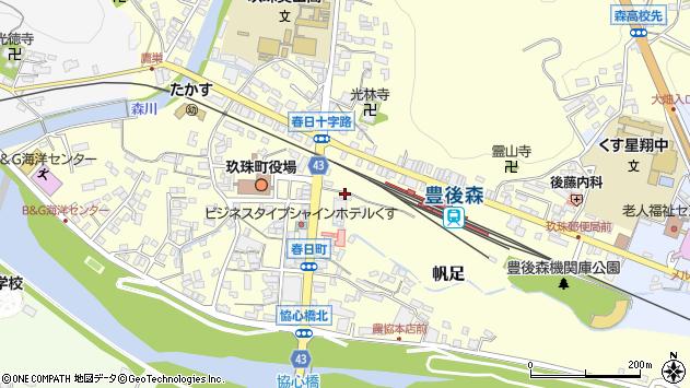 大分県玖珠郡玖珠町帆足201周辺の地図
