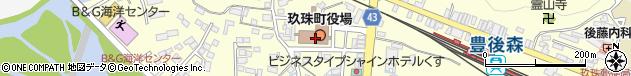 大分県玖珠郡玖珠町周辺の地図