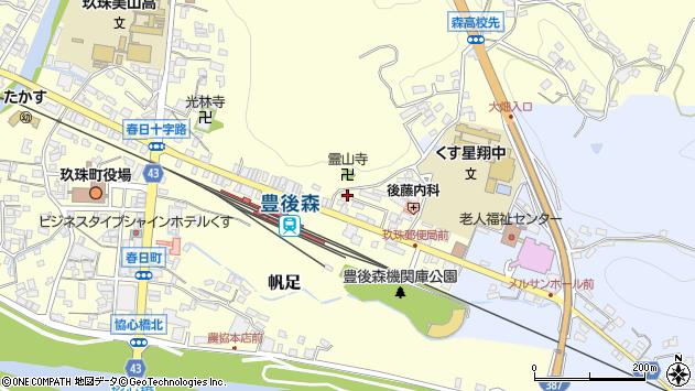 大分県玖珠郡玖珠町帆足459周辺の地図