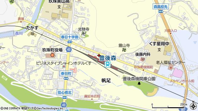 大分県玖珠郡玖珠町帆足243周辺の地図