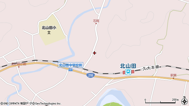 大分県玖珠郡玖珠町戸畑1805周辺の地図