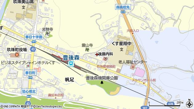 大分県玖珠郡玖珠町帆足471周辺の地図