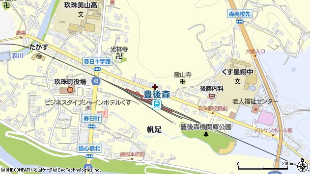 大分県玖珠郡玖珠町帆足245周辺の地図