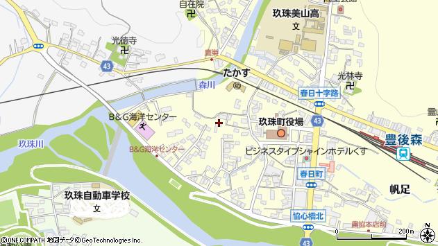 大分県玖珠郡玖珠町帆足283周辺の地図